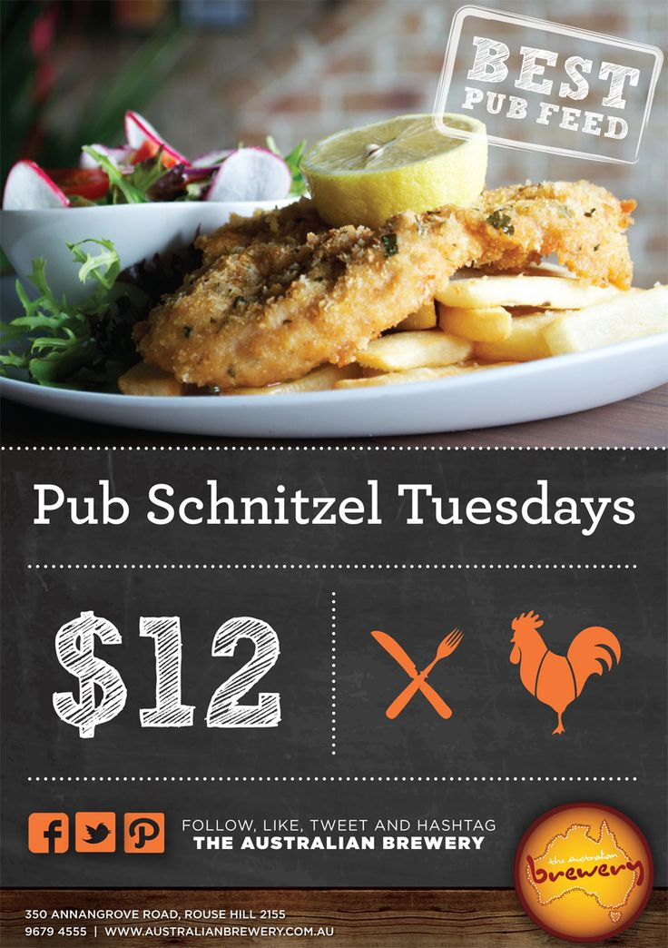 Tuesday specials @ The Australian Hotel and Brewery
