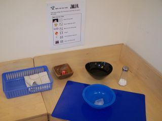 Melt the ice game, includes a pdf with the rules. Kid rolls the dice and gets to to something to the ice cube and see what happens.