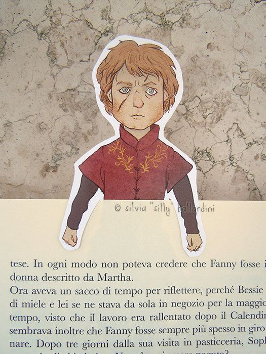 Game of Thrones bookmarks: Tyrion Lannister Jon by SillyLunastorta