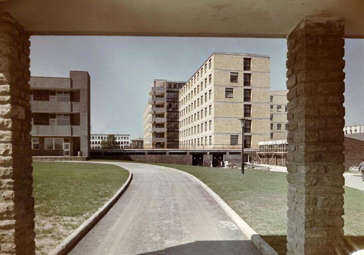 Városi (Szent Pantaleon) kórház, a fotó a Panoráma úti bejárat felől készült.