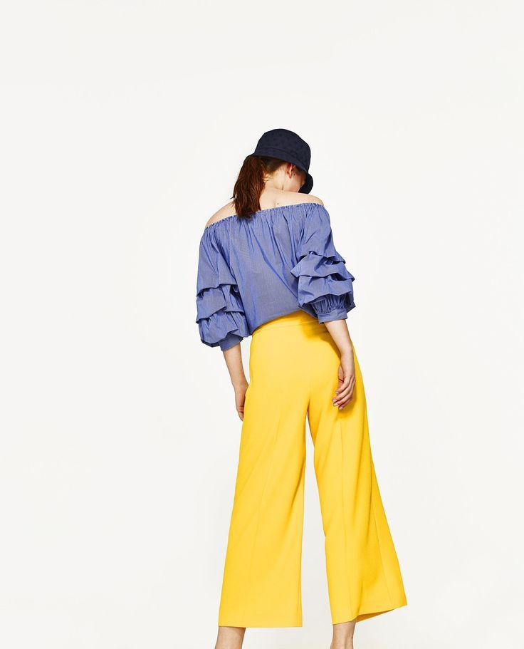 Afbeelding 5 van BROEK MET HOGE TAILLE van Zara