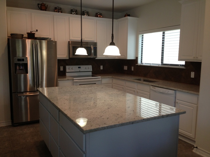 Colonial White granite with white cabinets | Kitchen Upgrade ...