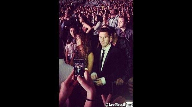 Messi celebró su hot trick en concierto de Beyonce en Madrid,. March 25, 2014