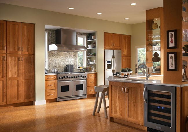 Spruce Up Your Kitchen With These Cabinet Door Styles: Kraftmaid Putnam In Cherry Honey Spice Kitchen