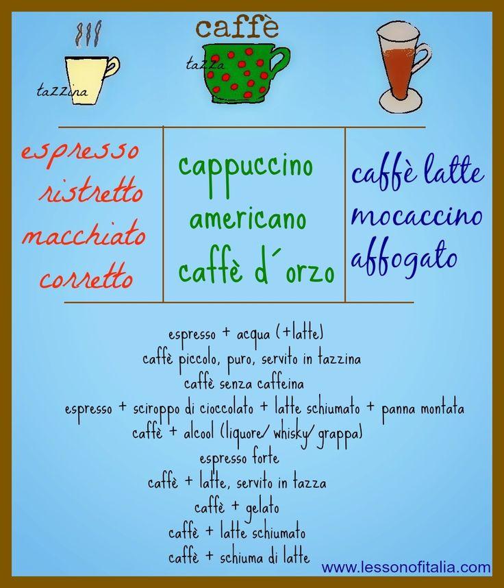 Italian Language ~ caffe