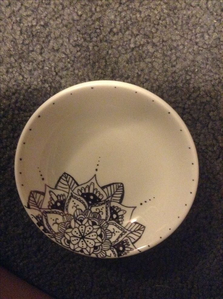 Mandala design // porcelain bowl