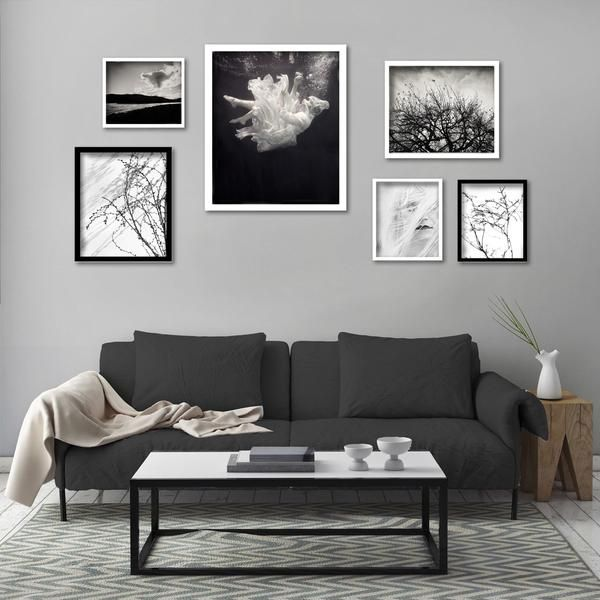 Monochrome Gallery wall, various sizes
