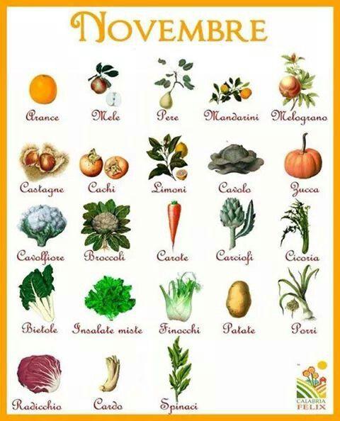 Novembre - frutta e verdura di stagione