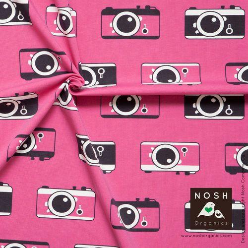 Pink Click! NOSH organic cotton jersey