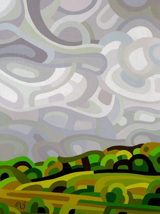 Abstract Landscape Painting - Mandy Budan: Storm
