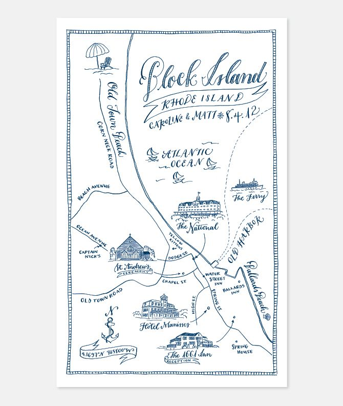 Wedding map by holly hollon (obsessed!)