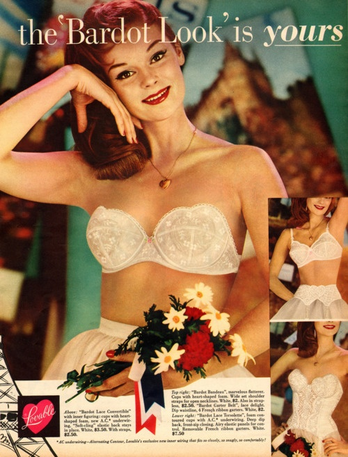 strapless bra: Vintage Lingerie, Vintage Clothing Lingerie, Vintage Fashion, Strapless Bras, Bardot Bras, Clothing Lingerie Advert, Vintage Ads, Lingerie Ads, Vintage Bra