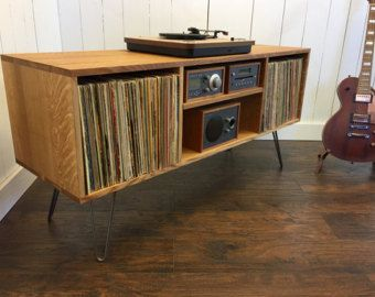 mid century modern record player console turntable by scottcassin