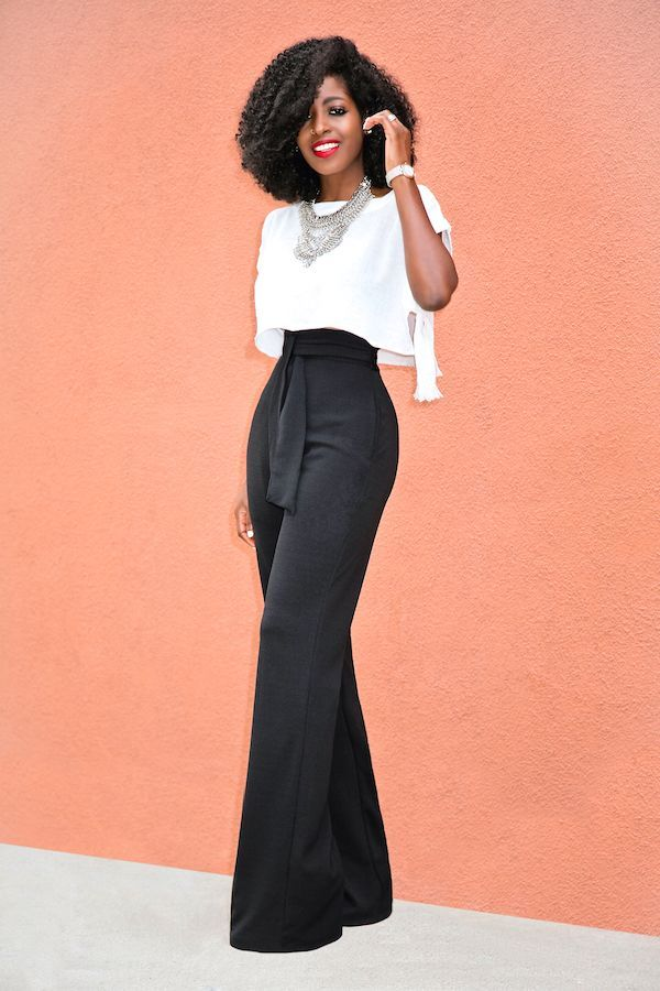 Style Pantry | Boxy Crop Top + Belted High Waist Pants | Fashion, Classy outfits, Outfits