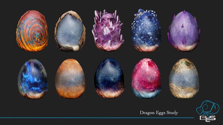 Dragon Eggs , Leonardo Ligustri on ArtStation at https://www.artstation.com/artwork/nJZ1X