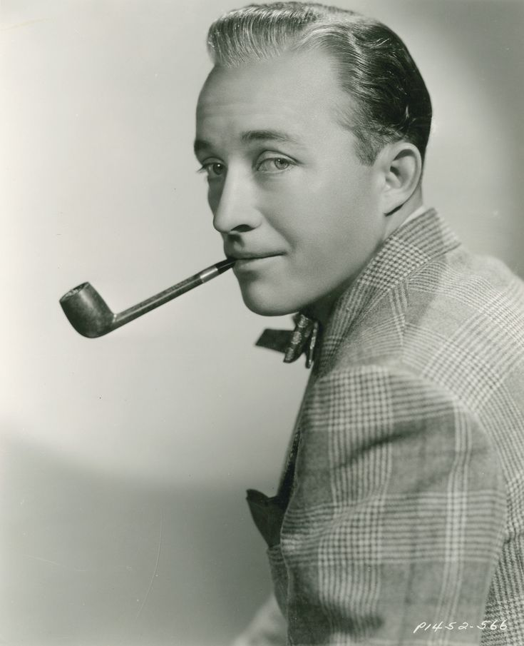 bing crosby iconic pipe in his mouth