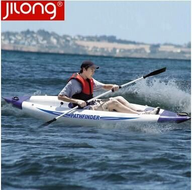 Single Person Pathfinder Canoe Inflatable Boat Sport Kayak 340*90cm Include 1 Seat+Foot Pump+1 Paddle+Carry Bag From Allen004, $408.38 | Dhgate.Com