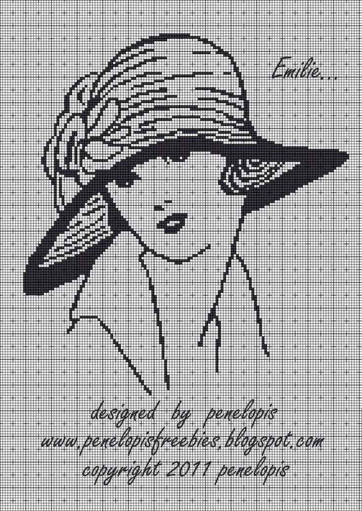 downloaded. Penelopis' cross stitch freebies: woman/kobieta