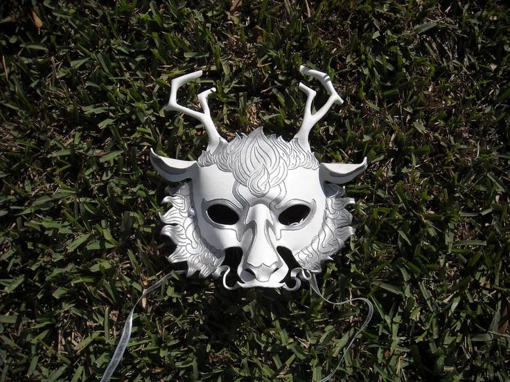 White Chinese Dragon Mask. $100.00, via Etsy.