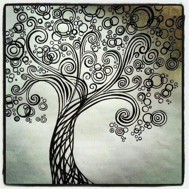 Bubble Tree Zentangle Doodle Pinterest Bubble Tree
