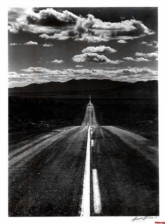 Ansel Adams Photograph Road Nevada Desert 1960.  Wow its amazing how Adams can take something generic like a road and make look beautiful.  When I was a kid my family took a road trip to the Grand Canyon, this photo reminds me of this journey across the American southwest.  I want to go back and take another road trip across this breathtaking landscape.