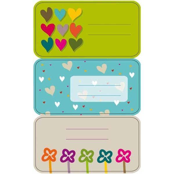 """Comprar 3 Hojas Etiquetas Regalo """" Corazones"""" Apli 11605  #regalo #casa #colores #colegio #school #infantil #niños #dibujos #etiquetas"""