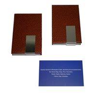 Description :  PU Namecard Case Colour :  Brown   Packaging :  Black Gift Box  Unit Size :  H9.5 x W6 x B1.2 cm