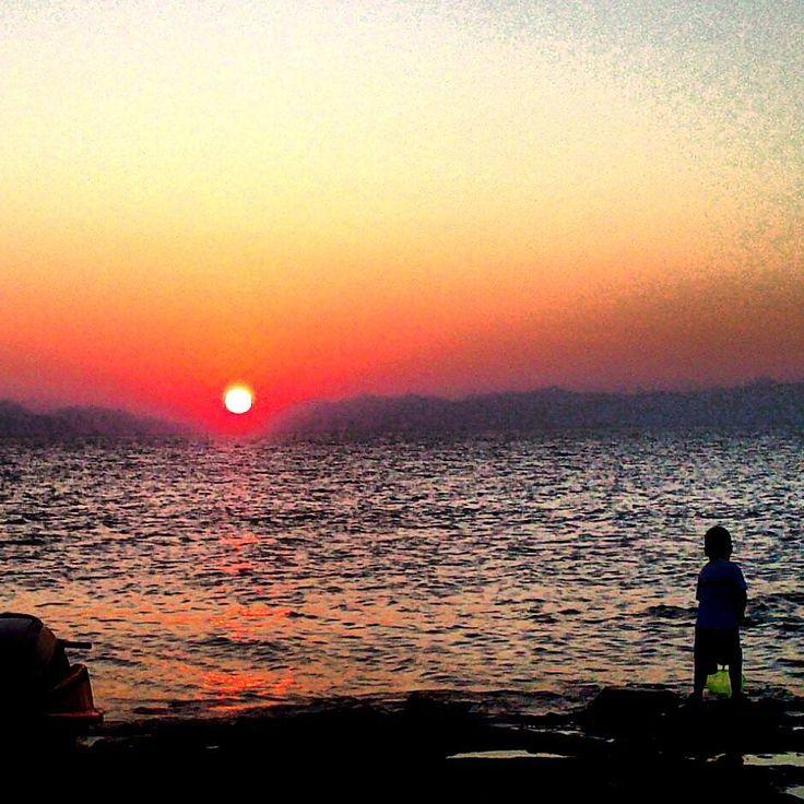 sunset at elafonisos island-greece