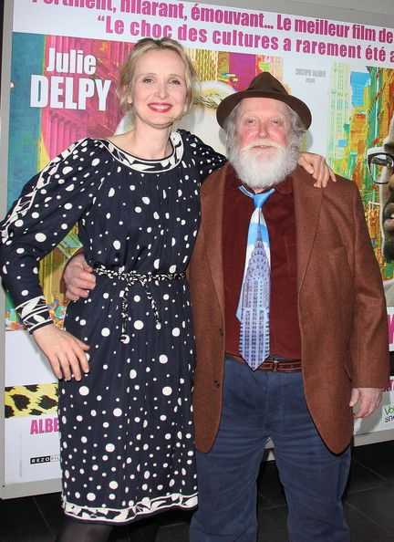 Julie Delpy with her father Albert Delpy