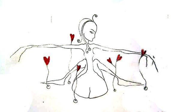 EVA & LOVE. Exclusive Etching. Printed Signed by WildBeautyStudio, kr1600.00