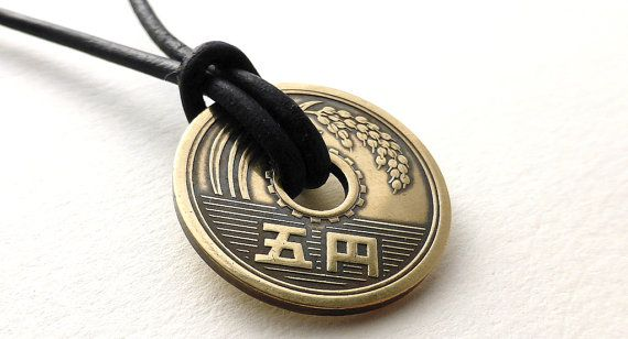 Hey, I found this really awesome Etsy listing at https://www.etsy.com/listing/269648224/japanese-necklace-coin-necklace-leather
