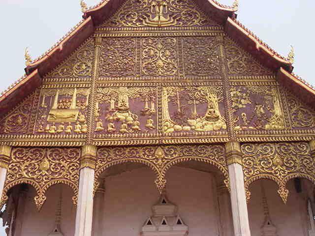 Temple facade #Laos