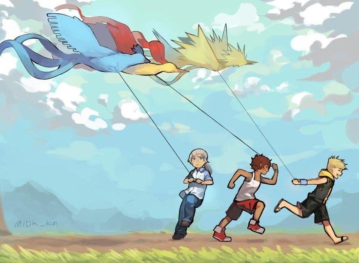Pokemon Go fan art, Flying kites : pokemongo