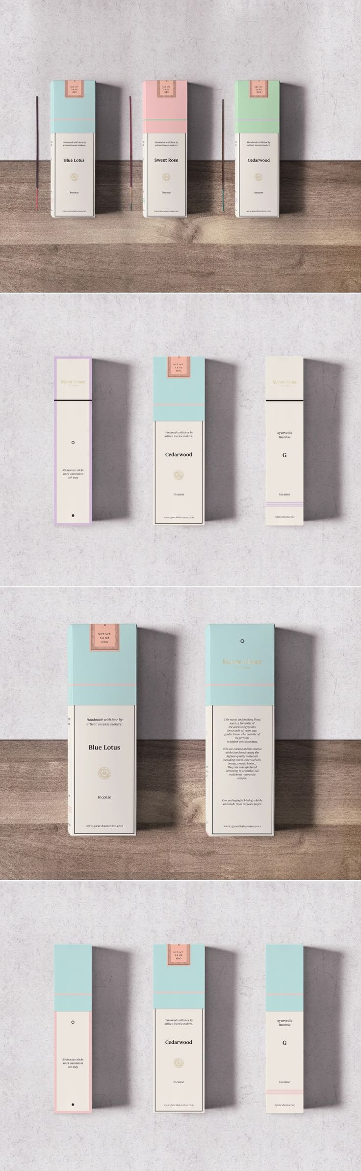 Manor House Incense ~ packaging design by Tom Jueris