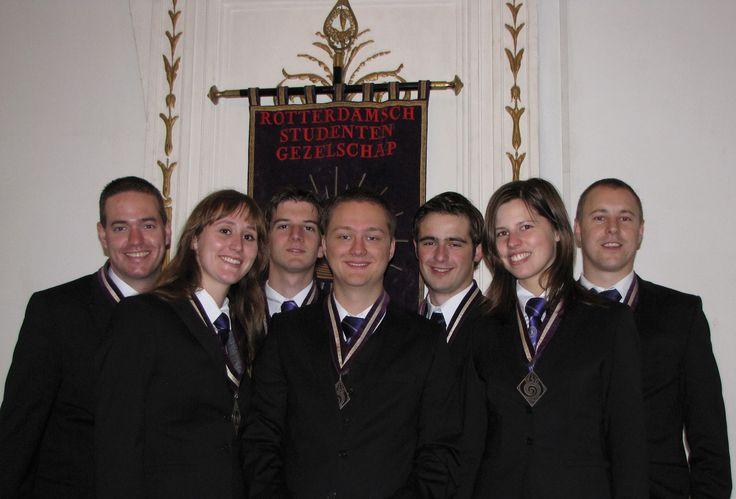 The RSG board of 2011-2012: Het 91ste College van Senaat en Sociëteitsbestuur.
