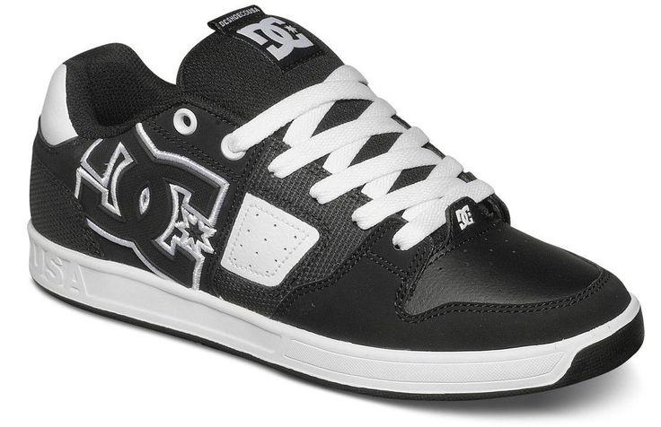 Scarpe Skate DC Shoes SCEPTOR Uomo RAP SNEAKERS Black Nero HIP POP pelle