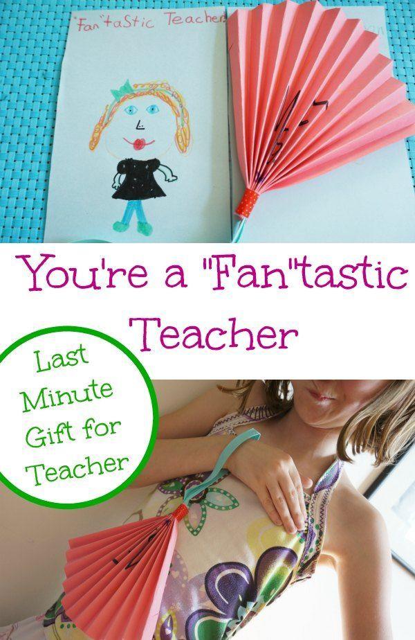 Last Minute Teacher Gift Easy Crafts For Kidsteacher