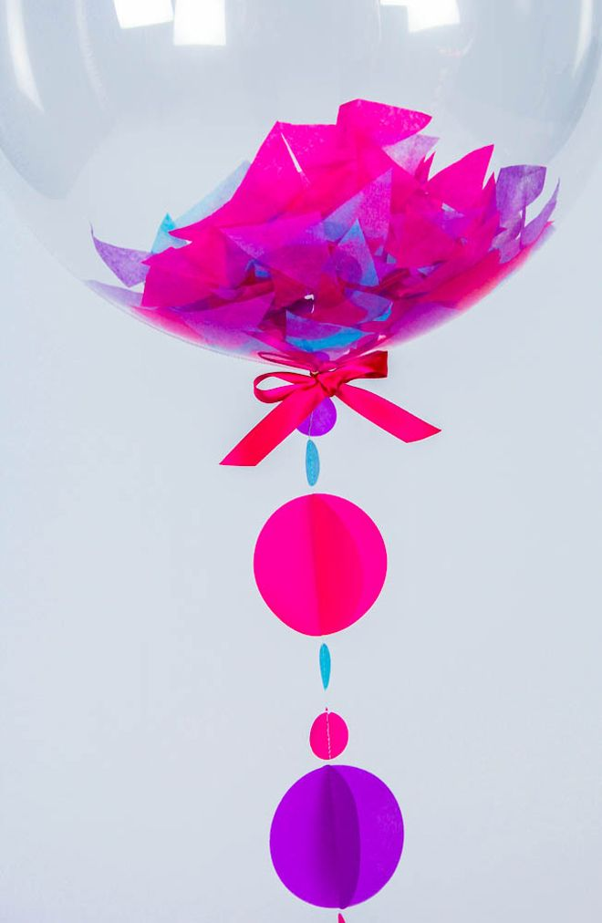 children's party accessories, children's gifts, balloons, balloon in a box, confetti balloon in a box, Bubblegum Balloons, published by Bobb...