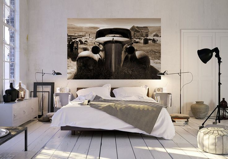 Wall mural photo wallpaper OLD RUSTY CAR 115x175cm bedroom & living room decor | eBay