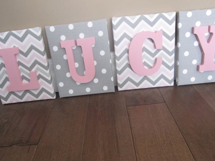 Wall Canvas Letters Nursery Decor Nursery Letters by NurseryShoppe