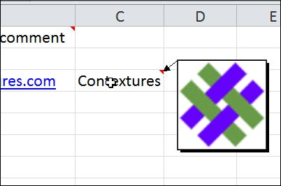 Show a picture in an Excel popup comment