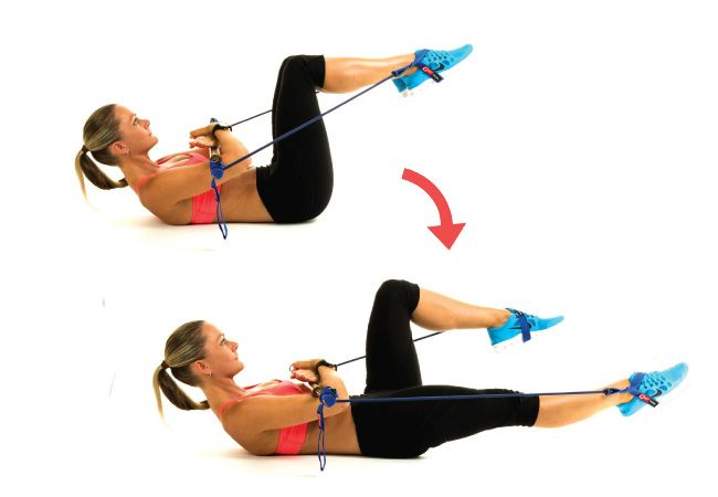 This is one of the best ab workouts you can do for a flat stomach. Lila Hall demonstrates the leg lower using a gymstick.