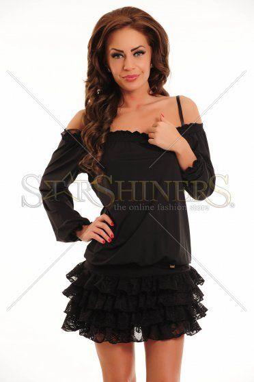 Rochie MissQ Lacy Frills Black