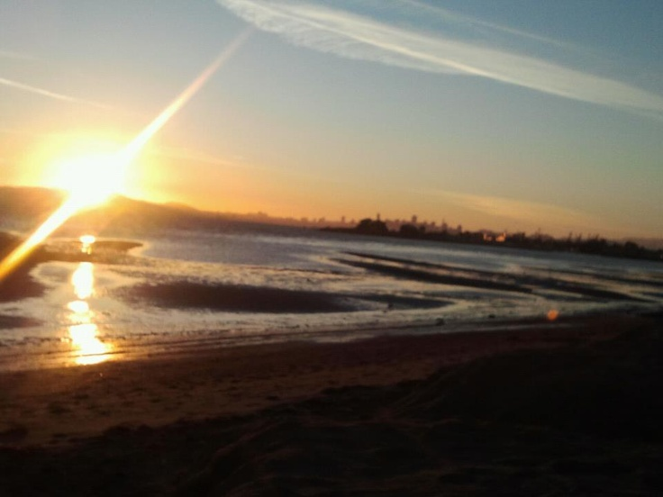 Alameda Beach with the view of San Francisco