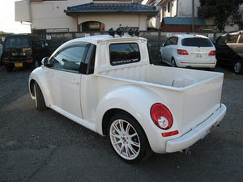 VW New Beetle pickup conversion, just what I need for collecting the horse feed!