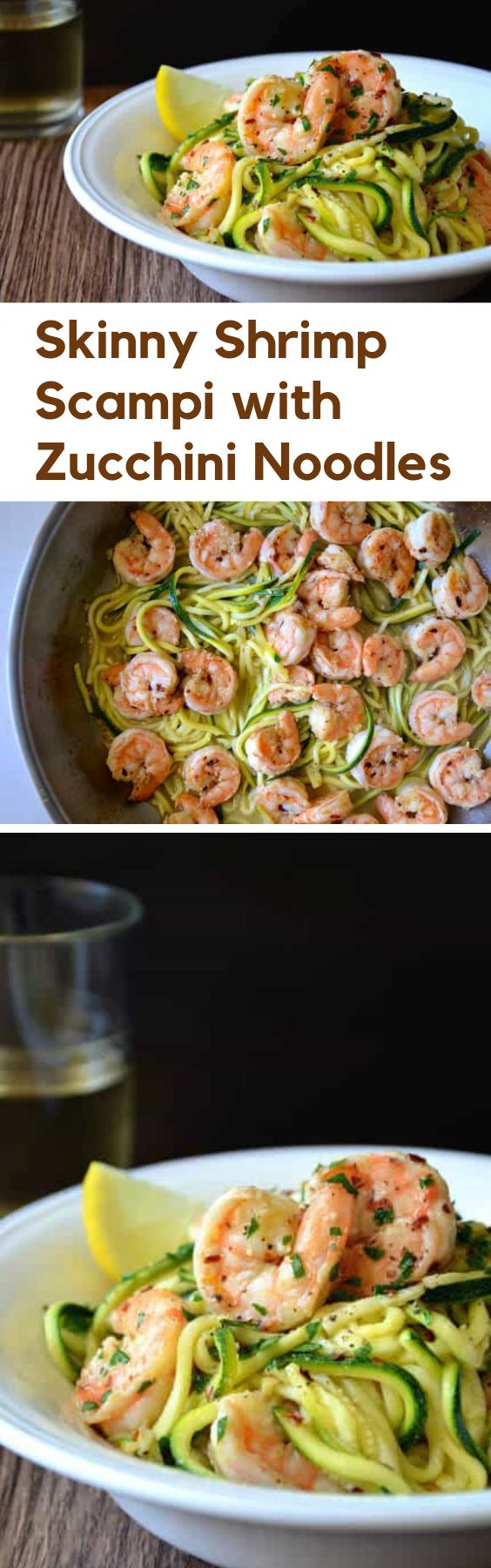 Skinny Shrimp Scampi with Zucchini Noodle