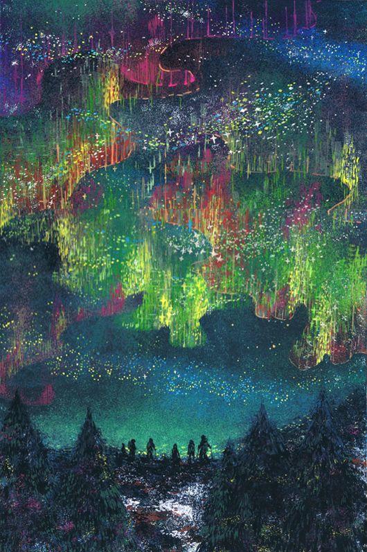 オーロラの灯 by Yoneda Eri