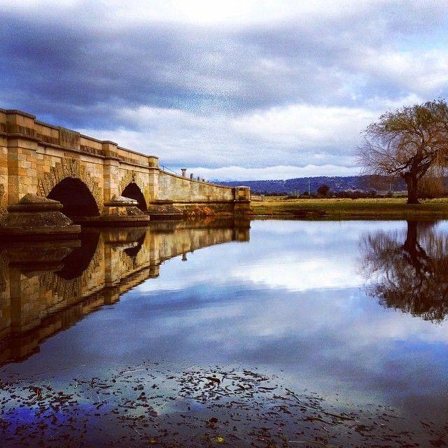 The convict built bridge at Ross. #ross #tasmania #discovertasmania  Image Credit: Vicky Hollywood
