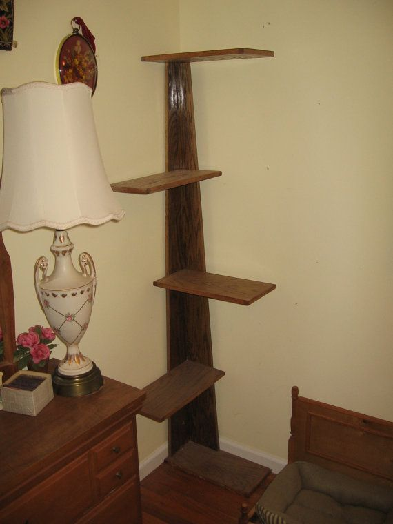 "Modern Corner Climbing Cat Tower, 68"" tall cat stand with carpeted platforms, modern style cat tree and cat retreat."