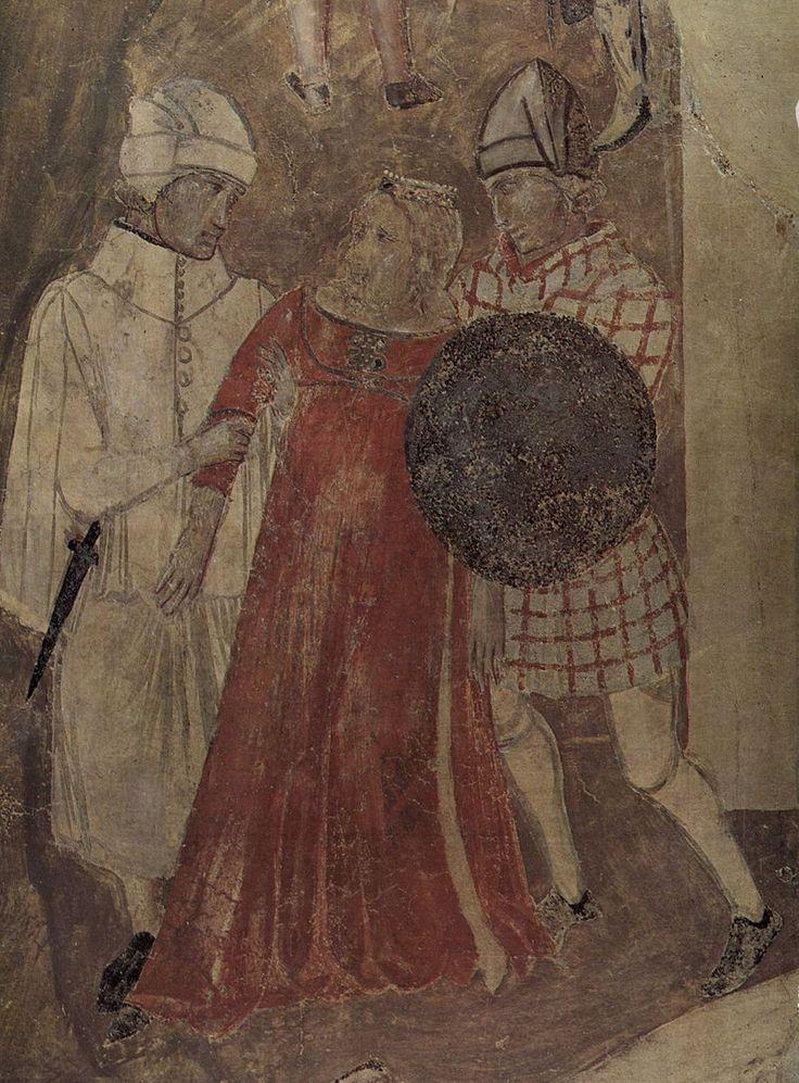 Ambrogio Lorenzetti - Effetti del Cattivo Governo in città, dettaglio - affresco - 1338-1339 - Siena - Palazzo Pubblico, Sala dei Nove o Sala della Pace